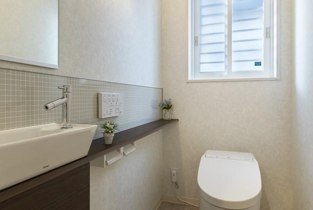 TOTOネオレストDH+手洗いカウンター
